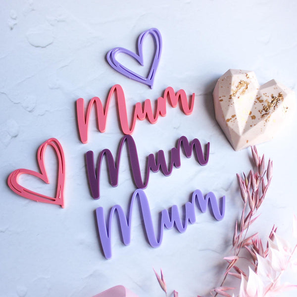 Acrylic 'Mum' charm - happy Mother's Day