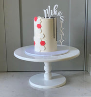 Floating Cake Topper - clear backing top & side