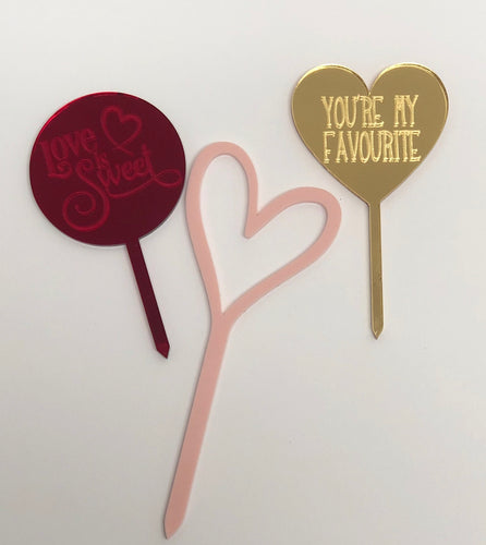 Fiver Friday! - Acrylic Cake topper set
