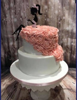 Two Piece Lady Silhouette Cake Topper