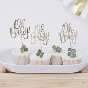 Oh Baby - Cupcake Toppers