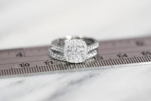 wedding ring on a ruler