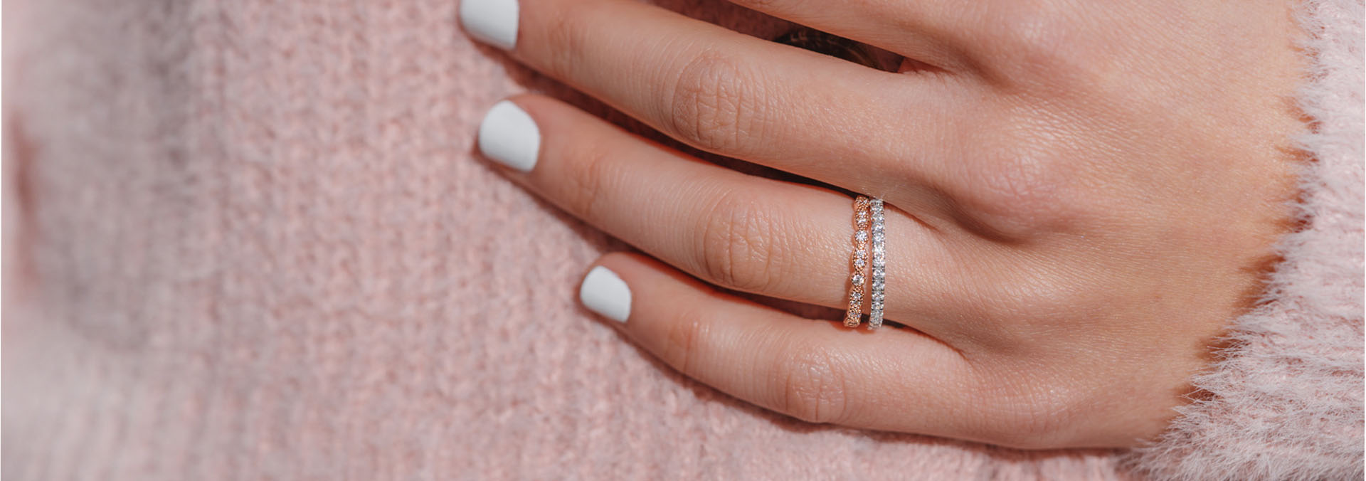 Which Hand Wedding Ring Female.Stackable Wedding Bands Affordable Wedding Bands For Her Modern