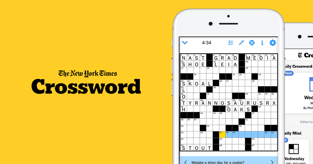 New York Times Crossword Best Mobile Games 2020 List For Coronavirus Quarantine Social Distancing