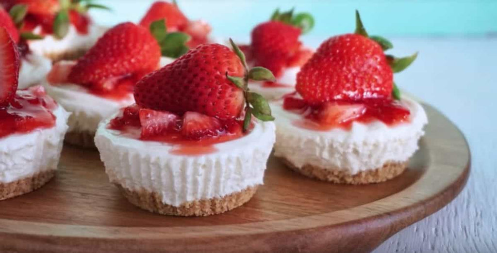 No Bake Strawberry Cheesecake Bites Recipes Things to Bake Try Baking at Home Bakery Baked Goods Social Distancing Activities Learn New Hobbies Coronavirus Pandemic 2020