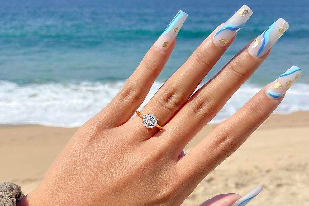 The 'One and Only' engagement ring in gold