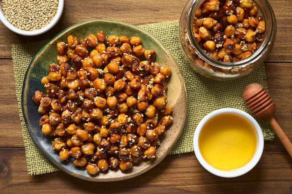 Roasted Chickpeas Easy DIY Healthy Stress Eating Snacks Good for You Quarantine Pandemic Coronavirus 2020 COVID-19