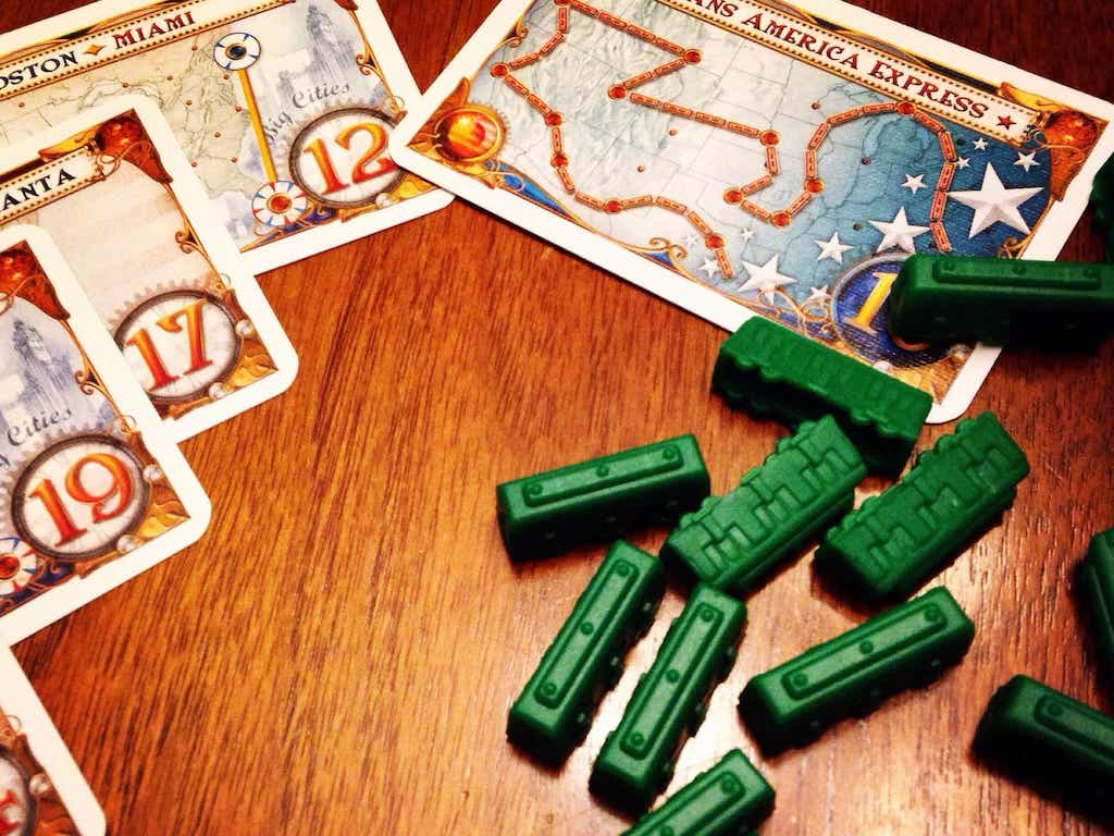 Ticket to Ride board game pieces