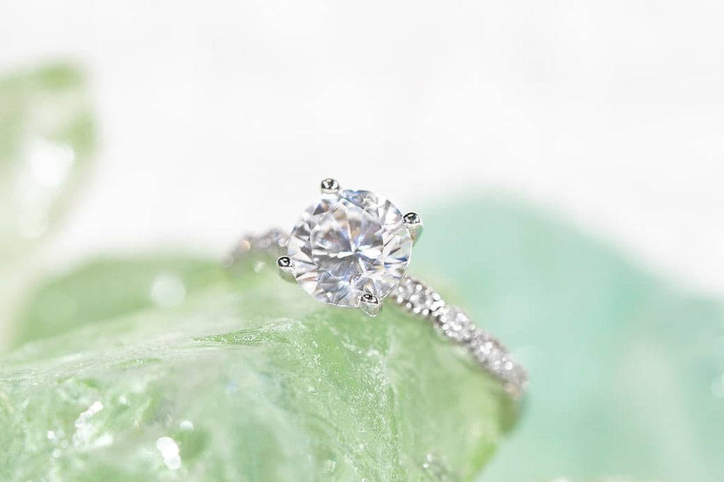 Vintage Round Cut Simulated Diamond Stone Engagement Ring Inexpensive Affordable Conflict Free