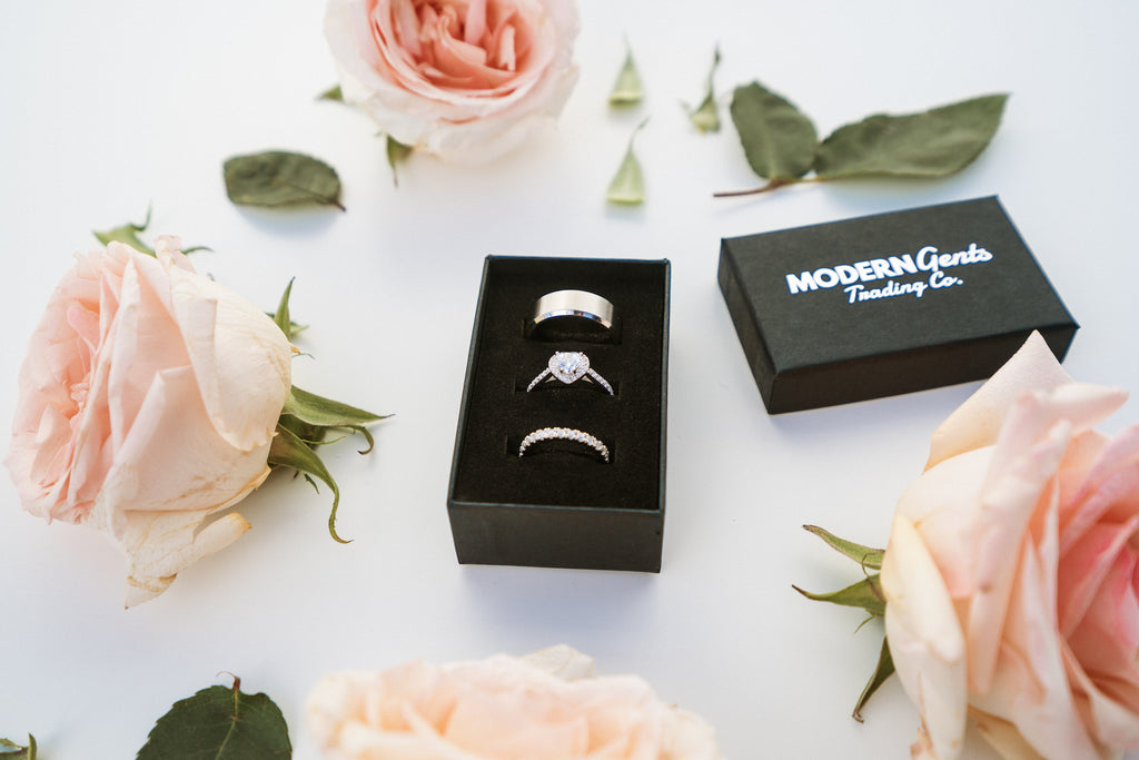 beautiful ring box set wedding and engagement