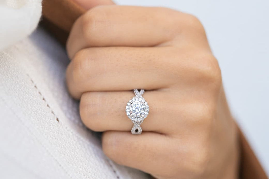 elegant round cut halo vintage engagement ring simulated diamond stone inexpensive affordable conflict free