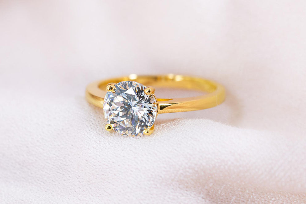 'The One and Only' engagement ring in yellow gold