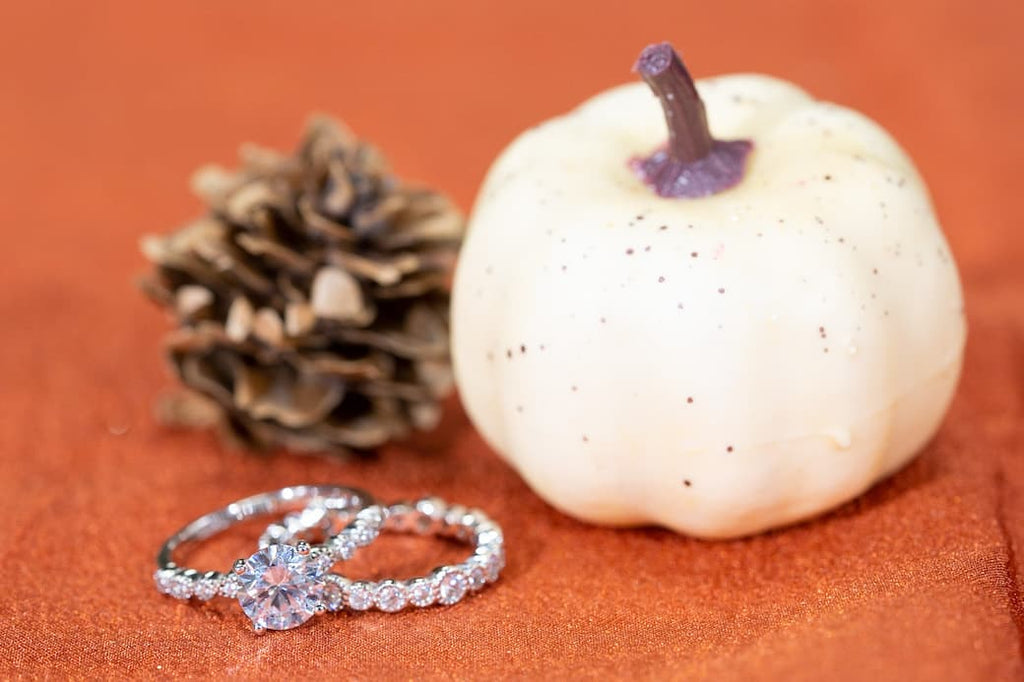 halloween proposal engagement vintage ring wedding band simulated diamond stone conflict free inexpensive affordable