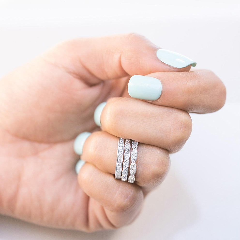 hand with Eternity Rings