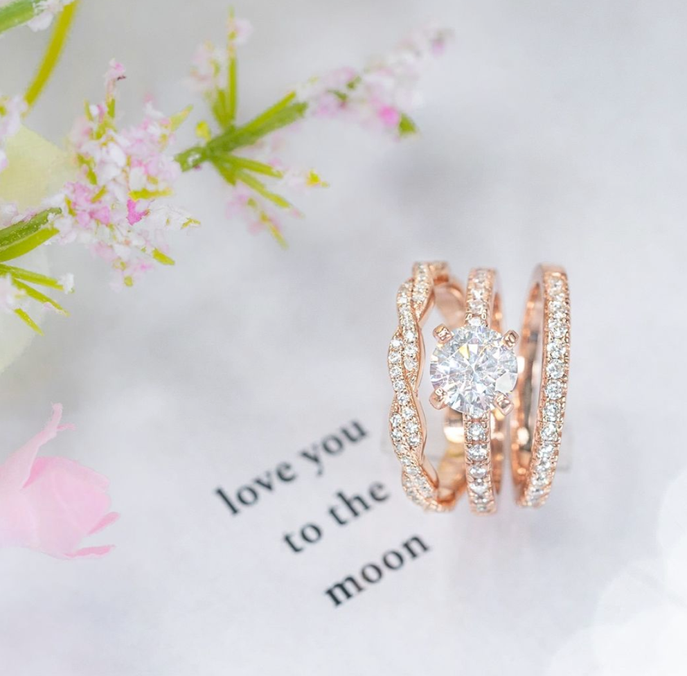 ring sitting on a love note