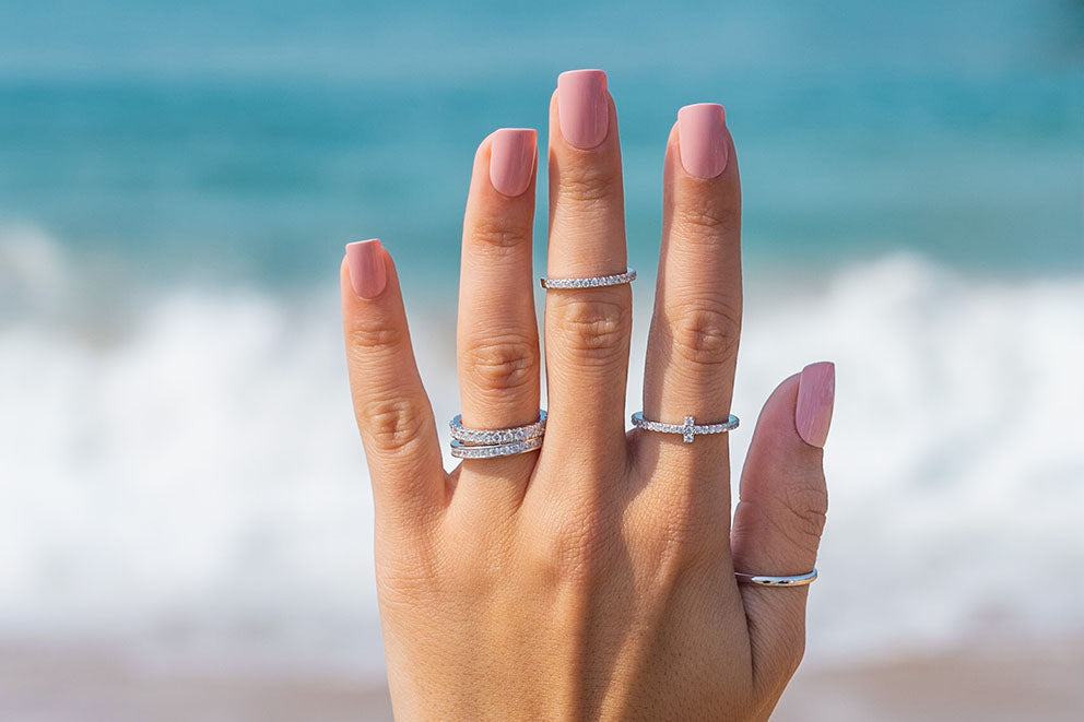 modern gents stackable rings