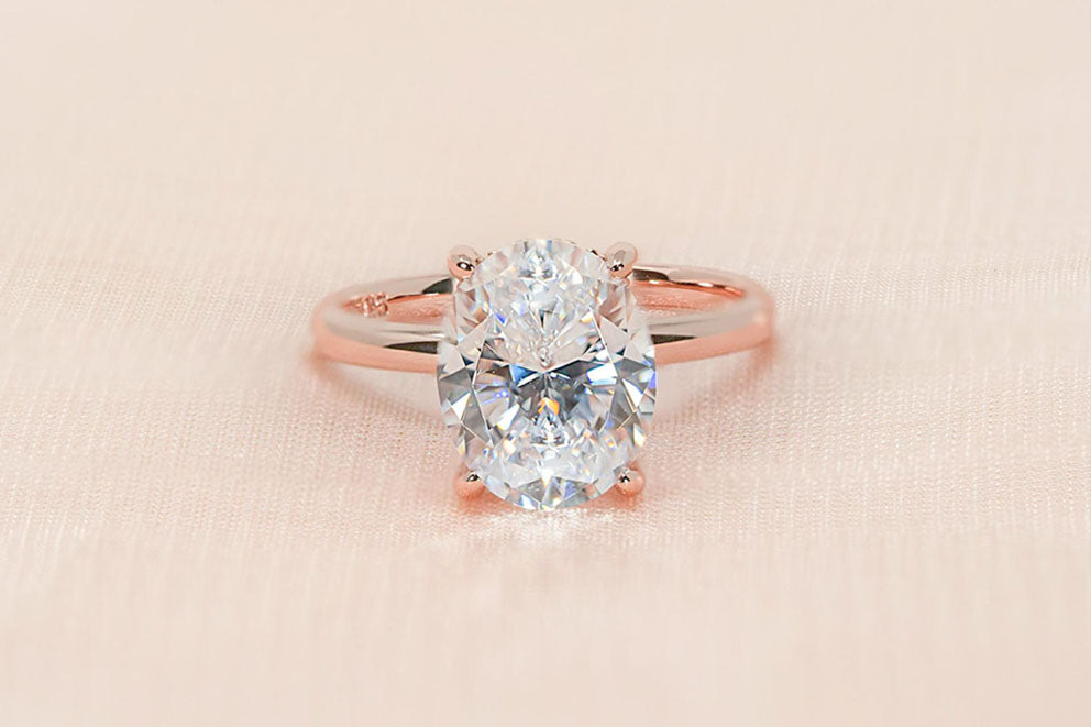 'The Elena' engagement ring in rose gold