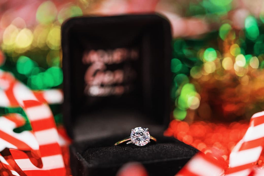 round cut solitaire engagement ring classic simple inexpensive affordable conflict free simulated diamond stone