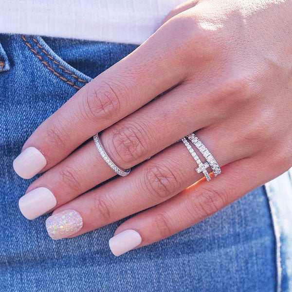 stackable rings on hand