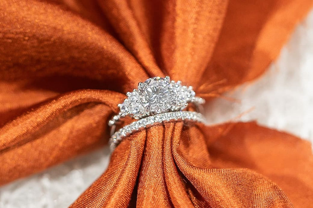 thanksgiving proposal holiday engagement ring shared prong six stones eternity wedding band inexpensive affordable conflict free