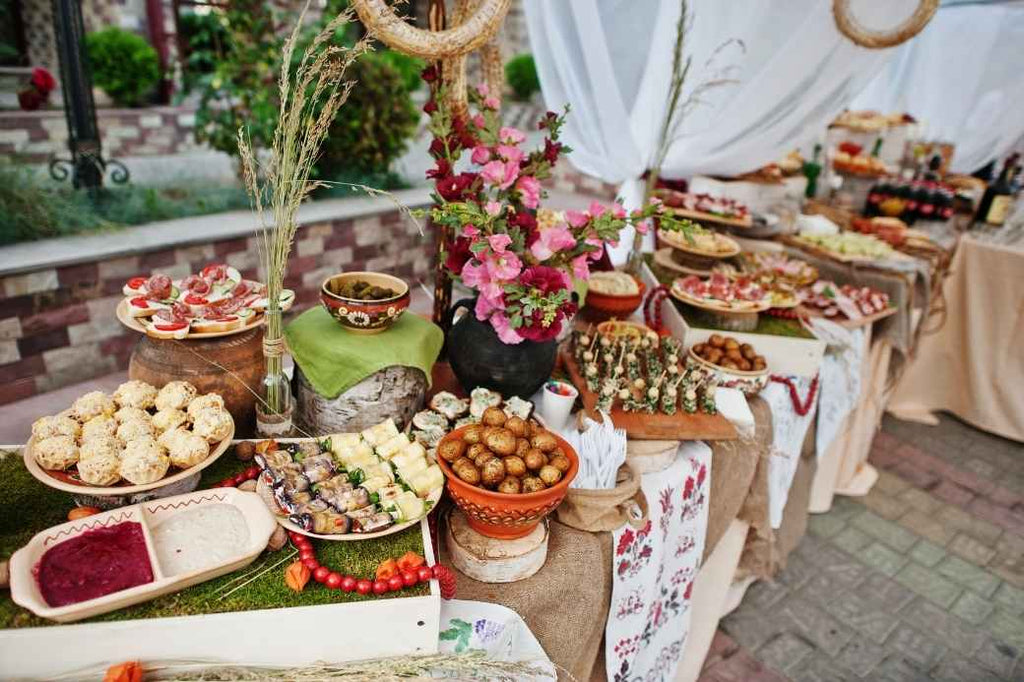 wedding event food buffet planning save splurge advice financial