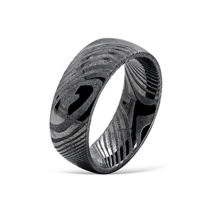 the valyrian damascus steel mens wedding ring