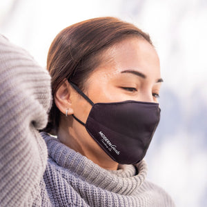 Female adjusting Black Velvet Breathable Face mask with Adjustable straps - Modern Gents Trading Co.