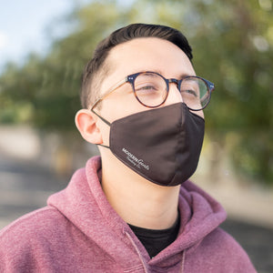 Male wearing black Velvet Breathable Face mask with Adjustable straps - Modern Gents Trading Co.