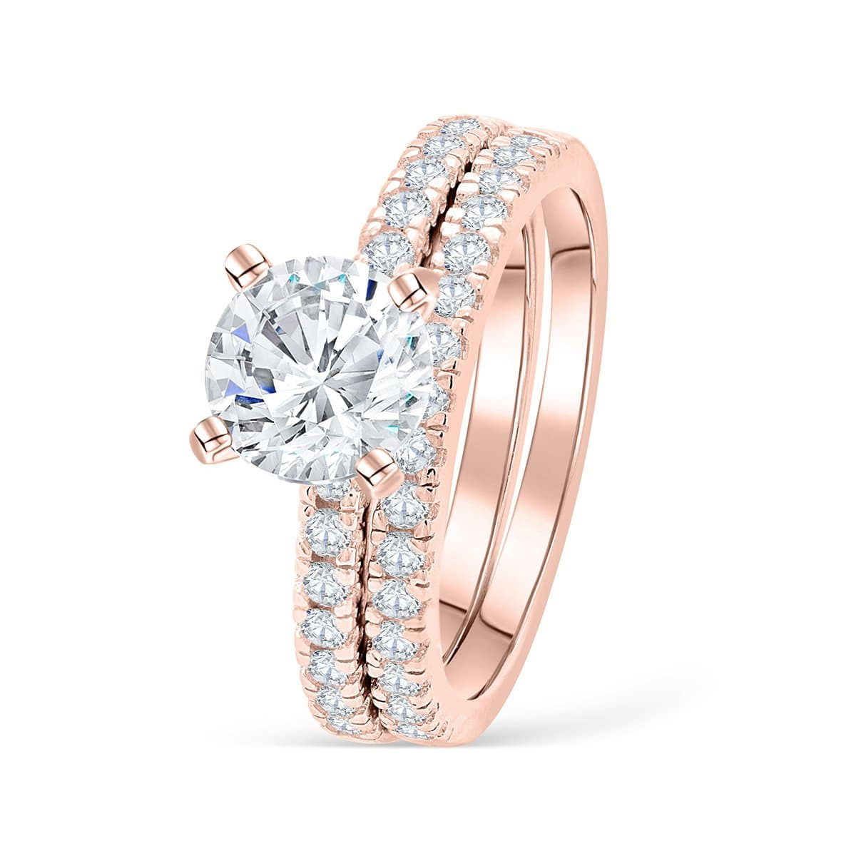 Rose Gold Wedding Ring.The Star Light Rose Gold