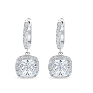 the eve cushion cut earrings