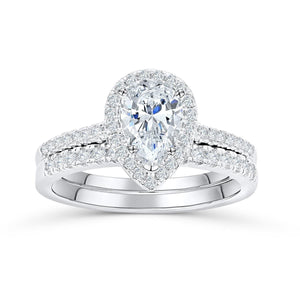 the bliss pear shaped engagement ring