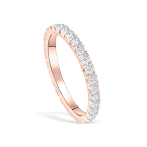 the eternity rose gold wedding band