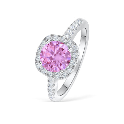 The Halo - Pink Sapphire