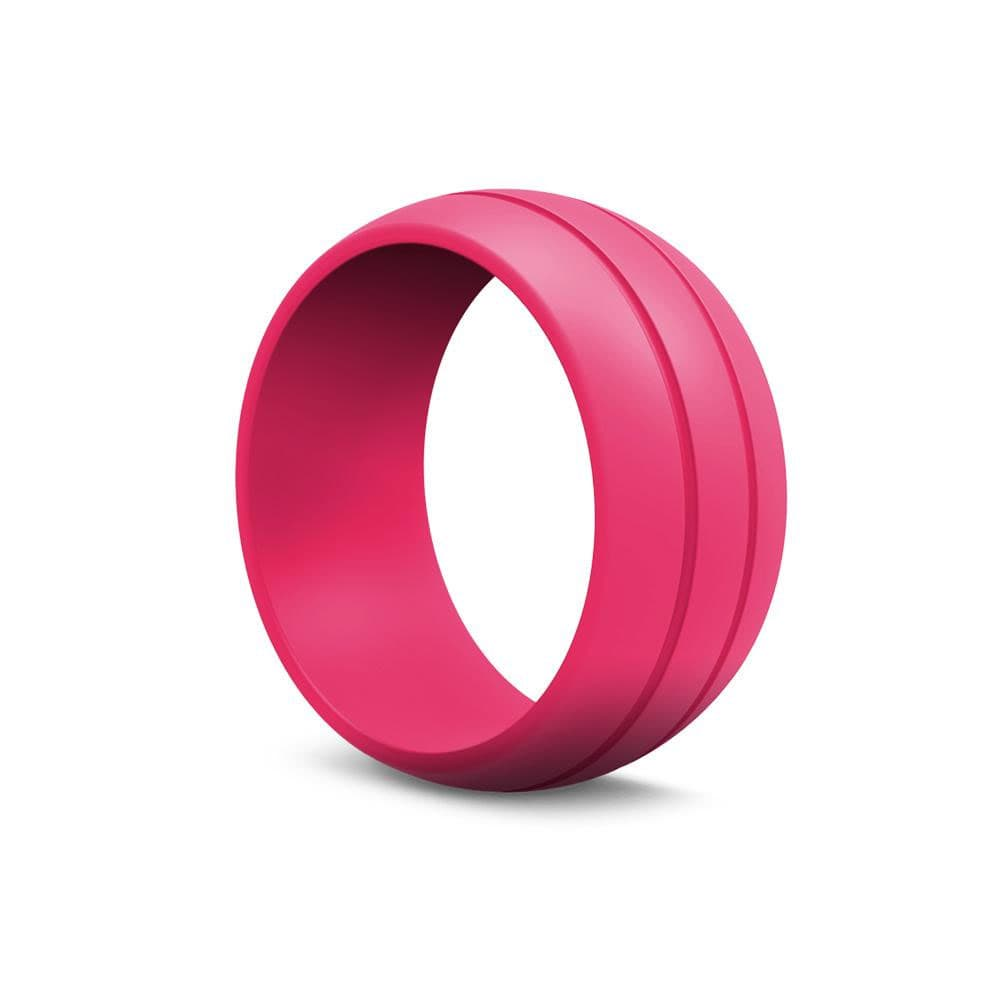 Pink Silicone Ring | Women\'s Rubber Wedding Rings - Modern Gents ...