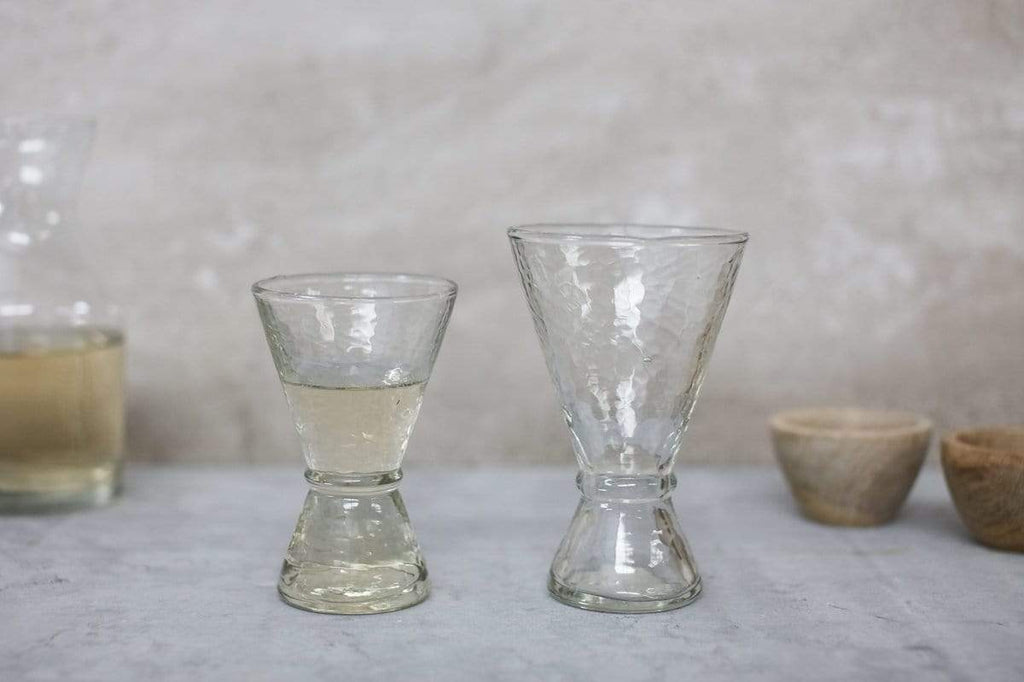 Cala Stemless Hammered Glass - Set of 2  ( Small )