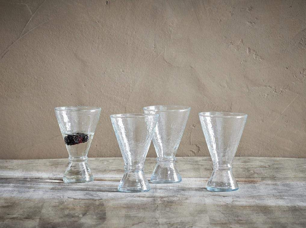 Grecia Conical Glasses - Hammered Glass - Set of 4
