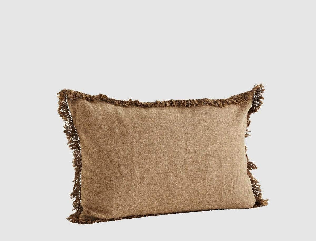 Hixton Brown Sugar Stonewashed Cushion Cover - Linen