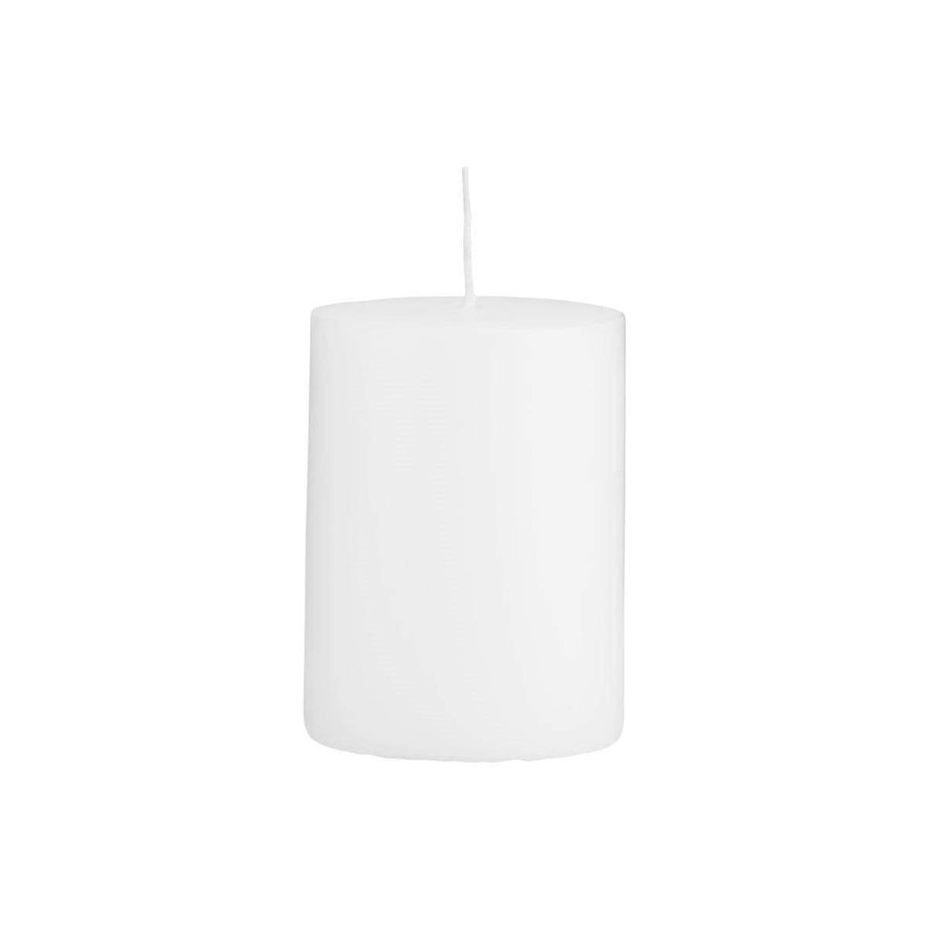 Hixton Classic White Pillar Church Candle - Set of 2