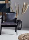 Hixton Elegant Black Wicker Chair