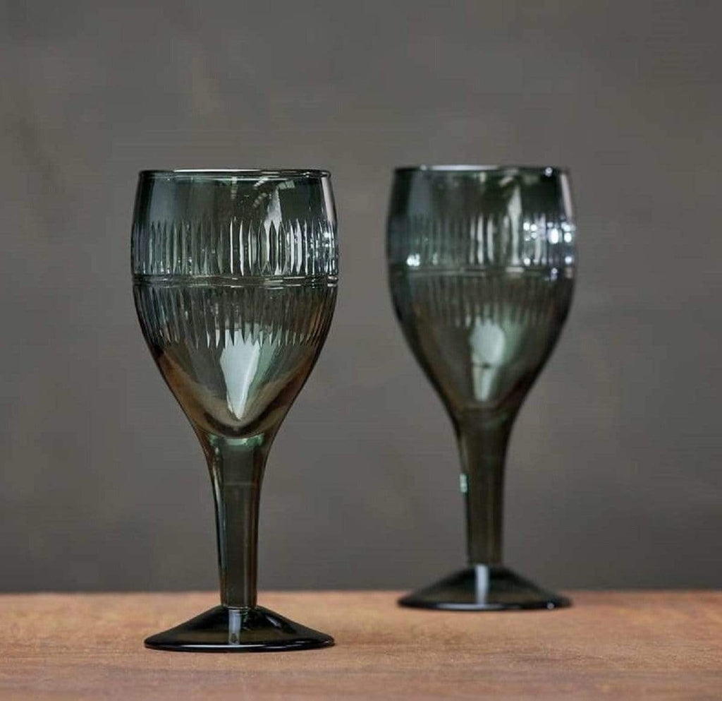 Hixton Emerald Green Wine Glass
