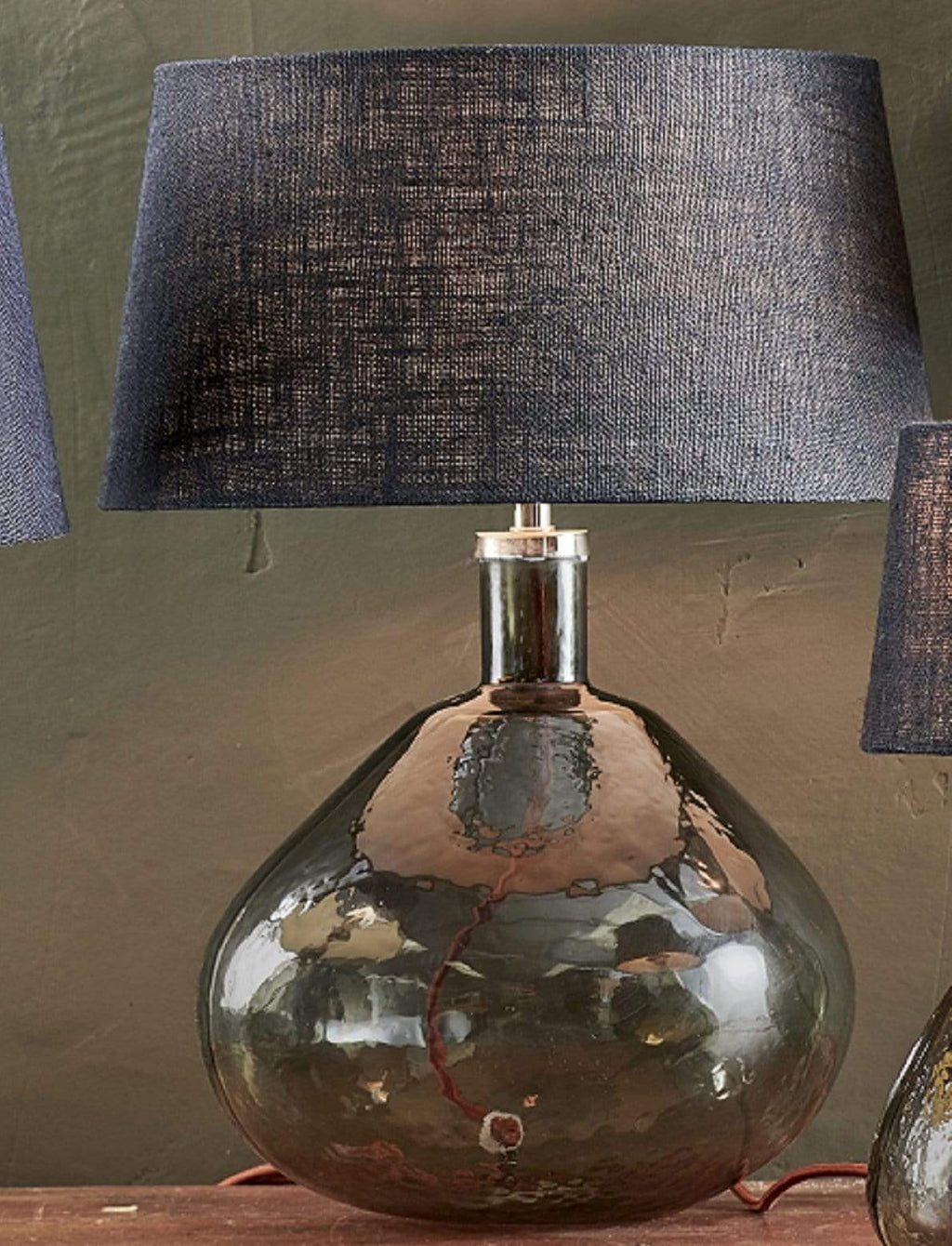 Jute Lampshade - Dark Ink