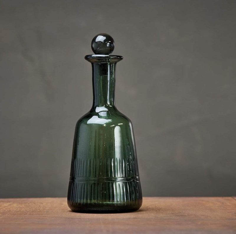 Hixton Glass  Decanter  - Dark Emerald