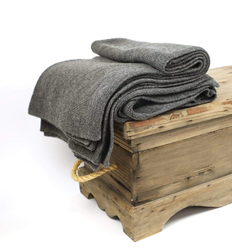 Hixton Hygge Throw - Dark Grey