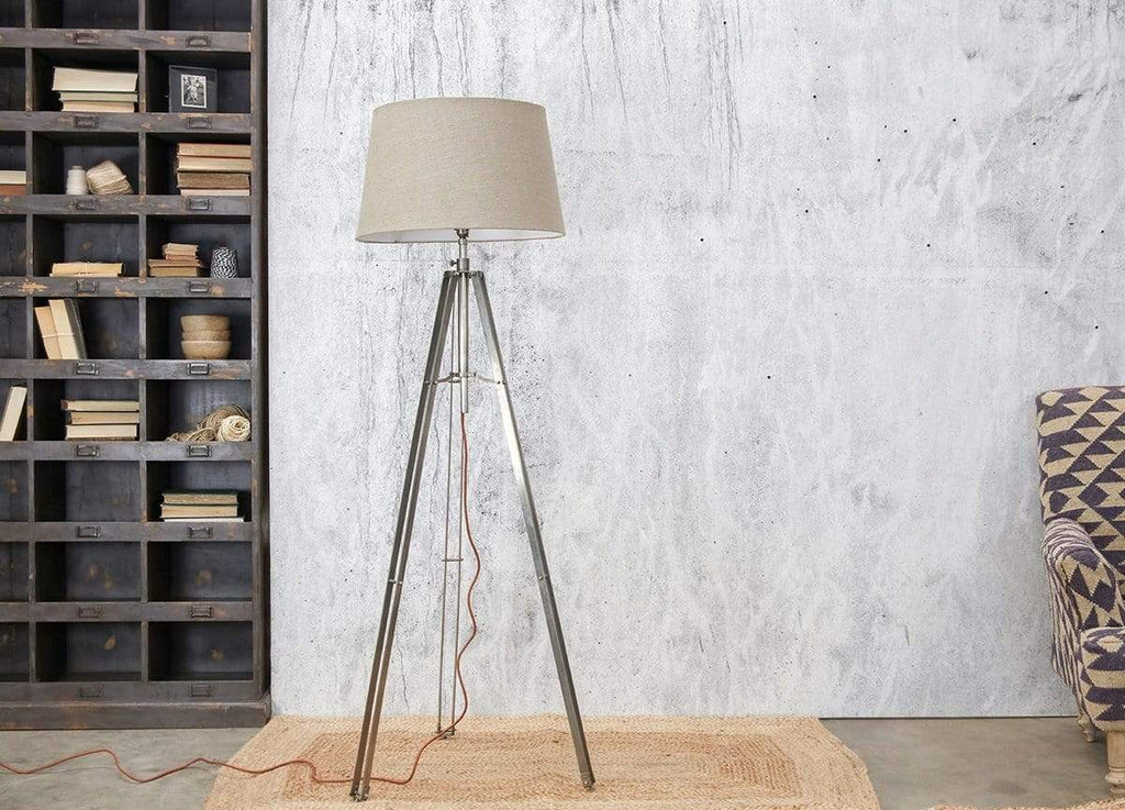 Hixton Industrial Floor Lamp - Gunmetal Grey