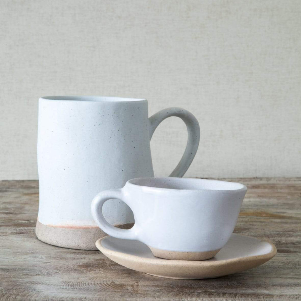 Hixton Kitchen Handmade Espresso Cups & Saucer - Set of 2