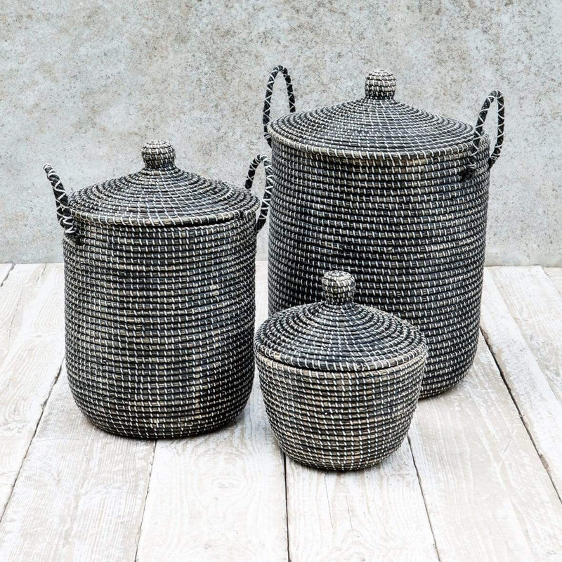 Hixton Large Seagrass Laundry Basket