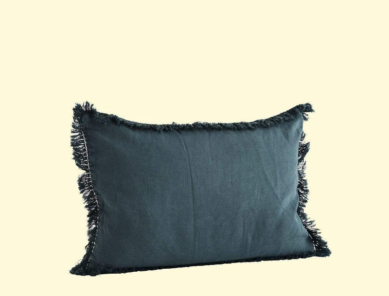 Hixton Linen Stonewashed Cushion Cover - Dark Blue
