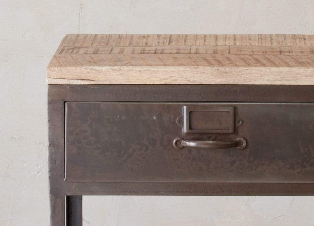 Hixton Mango Wood and Metal Console