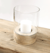 Hixton Mango Wood Candle Holder