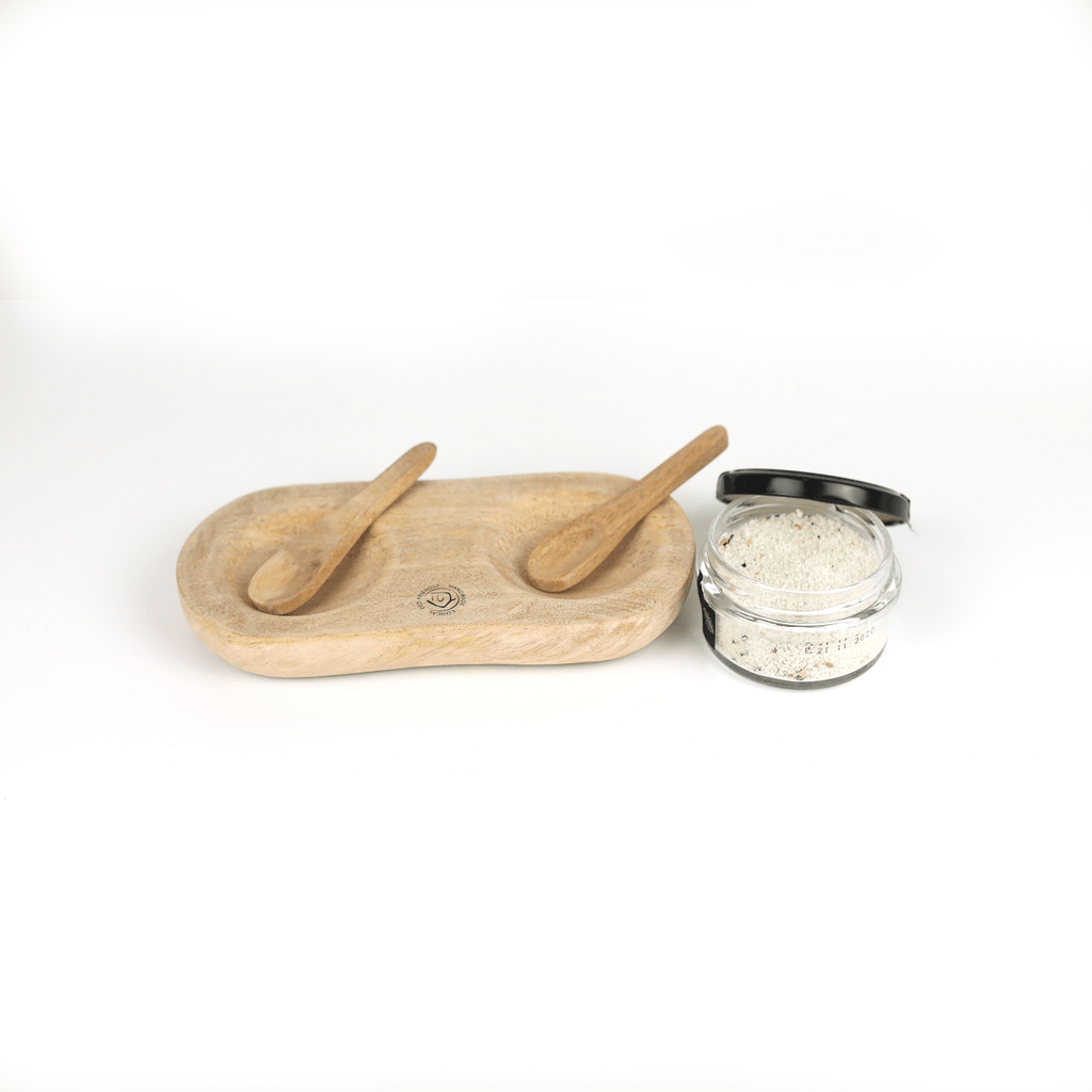 Hixton Mango Wood Salt and Pepper Pinch Pot